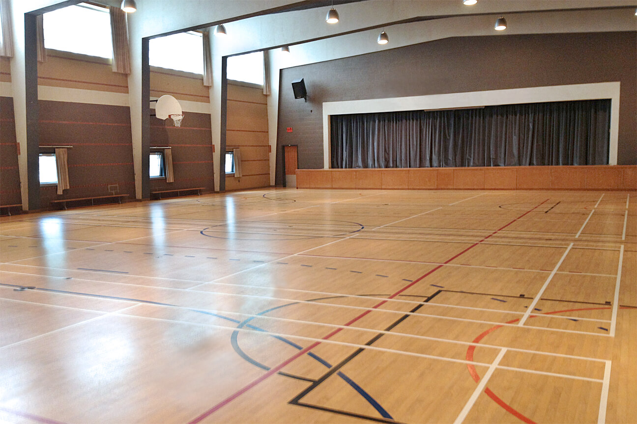 Gymnasium flooring Omnisports 6.5 at Notre-Dame des Anges Residential School (Montreal, Quebec)